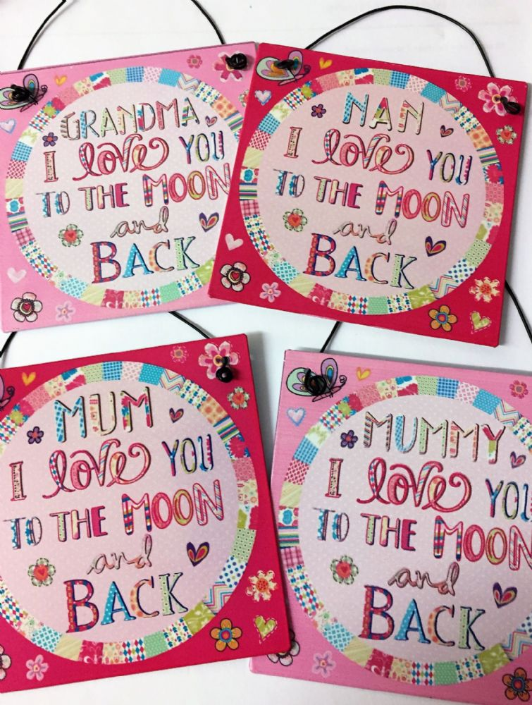 I Love You To The Moon & Back Small Tin Sign